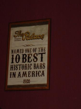 Whiskey Row: The Palace one of the 10 best Historic Bars in America
