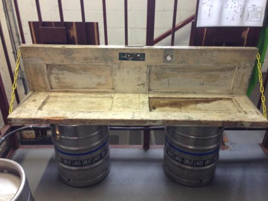 Cool piece of furniture made of doors and kegs - Picture of Great ...