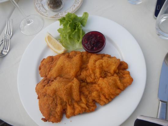 Hotel Hanny: schnitzel for dinner