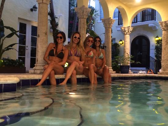 Girls at the indoor pool - Picture of The Orchid House, Miami Beach ...