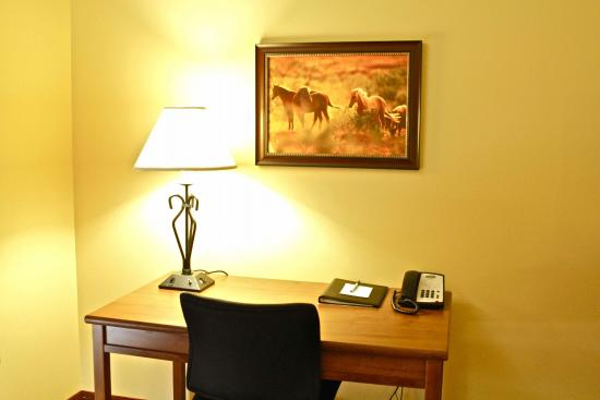 Arbuckle Lodge Gillette: Work desk with free high speed internet