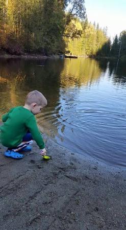 Lumby, แคนาดา: Fun at the private lake