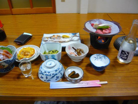 Minshuku Syunzansou : Red Salmon dinner