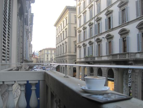 Bb Salotto Di Firenze.Looking South Down Via Roma From Our Balcony Picture Of Il