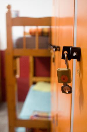 Sampa Hostel: Locker com cadeado para cada hóspede