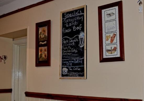 Creeslough, ไอร์แลนด์: Rose's Kitchen ~ Specials Board