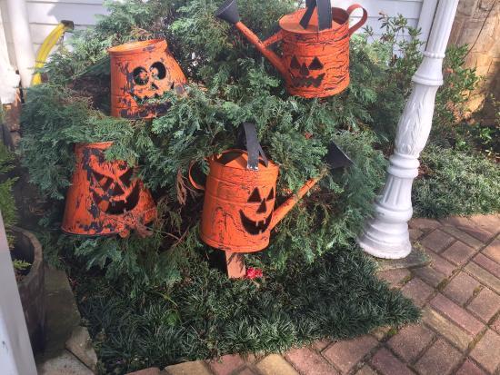 Canada Lodge: decoracao de halloween no jardim