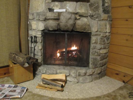 Baileys Harbor, WI: Fireplaces in the cabin