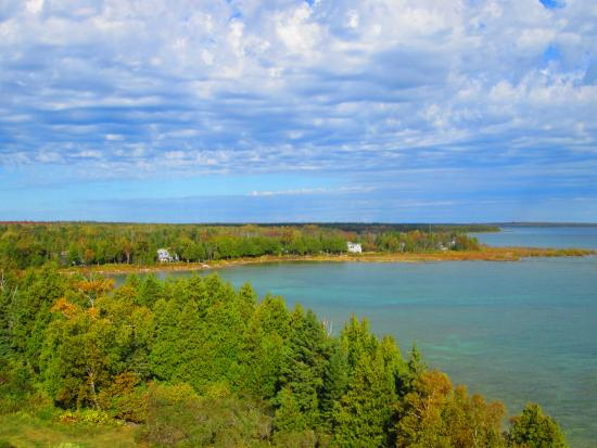 Baileys Harbor, WI: View from the top of the lighthouse