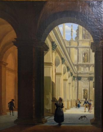 Giovanni battista dell acqua the naviglio of porta romana for Palazzo morando