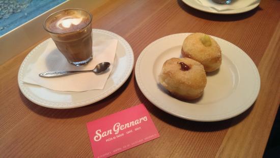 Cortado Espresso & Fresh Bomboloni