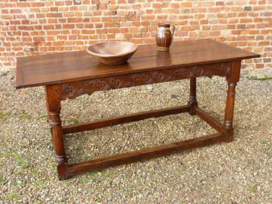 Holt Antique Furniture: The Items We Sell   Mid 17thC English Antique Oak  Refectory Table