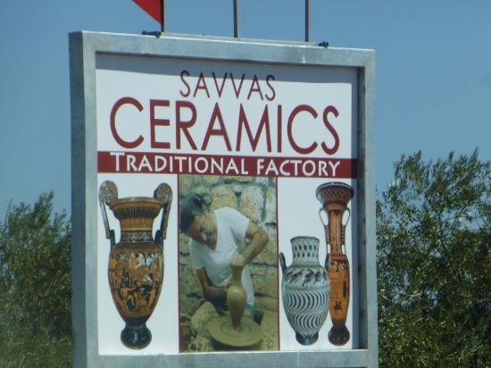 Kalathos, Greece: Shop Signboard