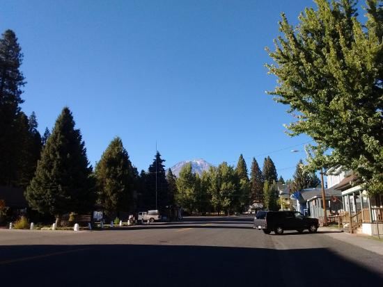 McCloud, CA: View up Main Street.
