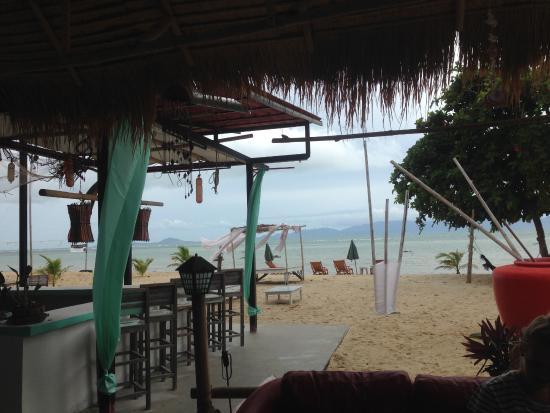 At Beach Bed & Bar: morning view