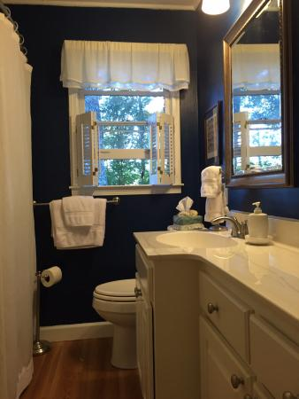 The Blue and Gray Bed and Breakfast : Newly redecorated full bath