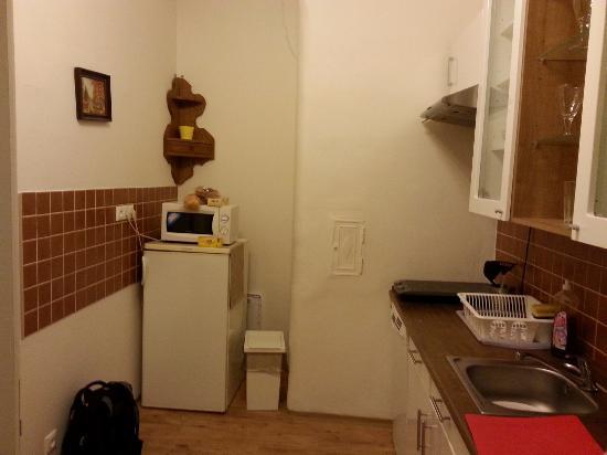 Old Prague Aparthotel: Кухня