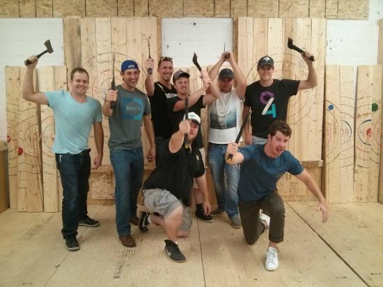 Taking charge in Burlington - Picture of Bad Axe Throwing ...