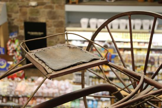 Walnut Creek Cheese: Antiques are displayed throughout the store, providing for a unique shopping experience.