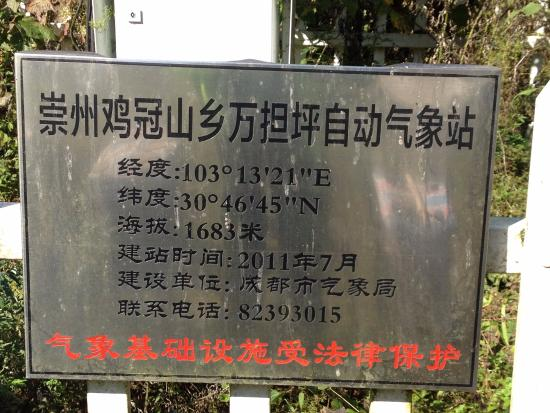Jiguanshan Scenic Resort: Weather station at the end of the road, beginning of the hiking trail