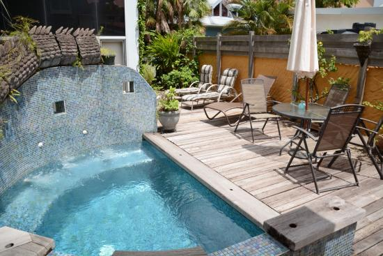The Gingerbread House: Plunge pool at rear