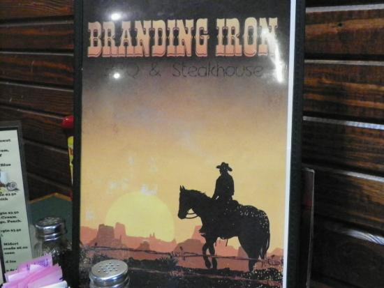 Branding Iron BBQ & Steakhouse: Many choices from streak, seafood, and sandwiches, made fresh daily.