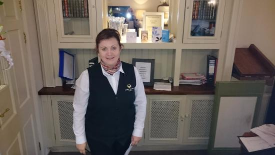 Torc Hotel: Lana, our friendly and characterful help at the reception