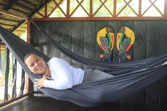 Puerto Narino, Colombia: Las hamacas en el balcón del segundo piso son un descanso absoluto.
