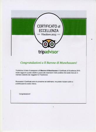 Il Barone di Munchausen: certificato di eccellenza