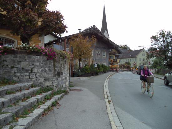 Braustuberl: Looking toward next door restaurant:  Husar