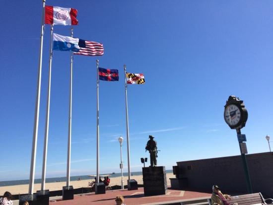 Firefighter Memorial On Oc Boardwalk 2015 Picture Of