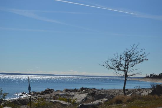 Orient Beach State Park: view from rd