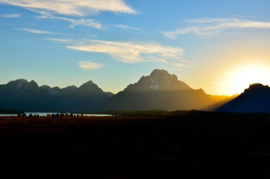 Jackson Lake Lodge: Jackson Lake and the Grand Tetons from the Lodge