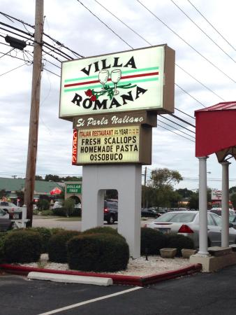 Villa Romana Italian Restaurant Sign Outside