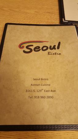 Seoul Bistro: The Menu