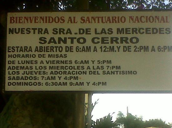 La Vega, Dominikana: horario del santuario