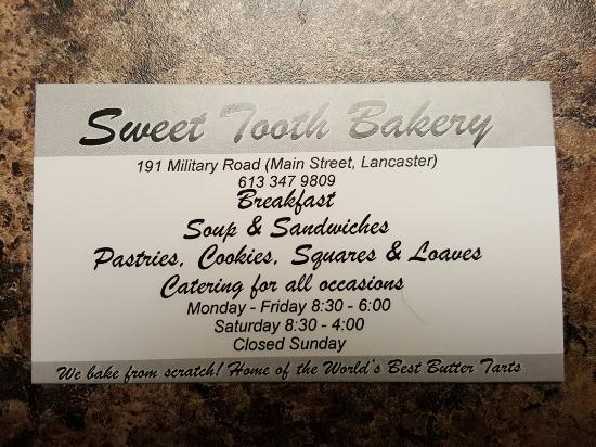 Lancaster, Canadá: Sweet Tooth Bakery