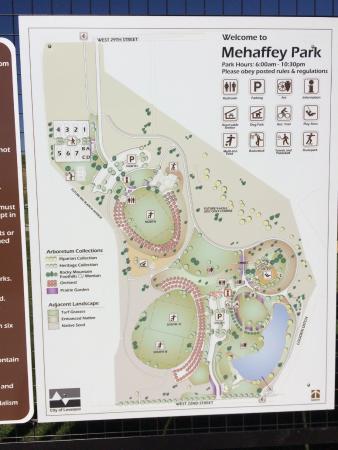 Map of Mehaffey Park - Picture of Mehaffey Park, Loveland ...