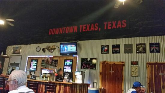Rockdale, TX: the bar area