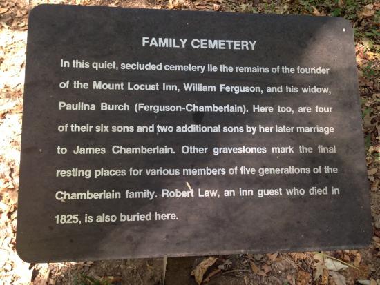 Natchez, MS: Plaque (Ferguson) Family Cemetery