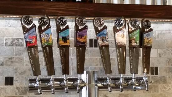Fort Collins Brewery: A few of the many tap handles
