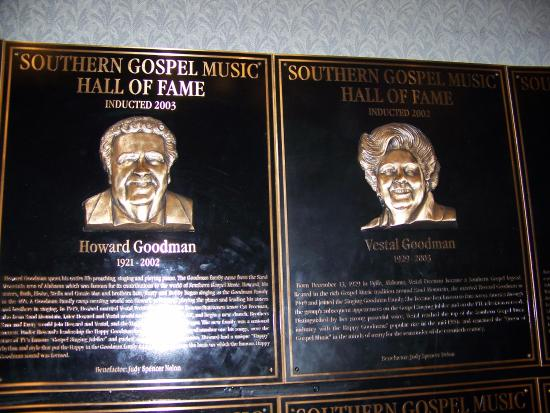 Southern Gospel Music Hall of Fame and Museum: Hall of Fame