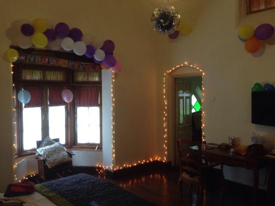 Savoy Ooty Birthday Decorations In Our Room Done By Hotel Staff