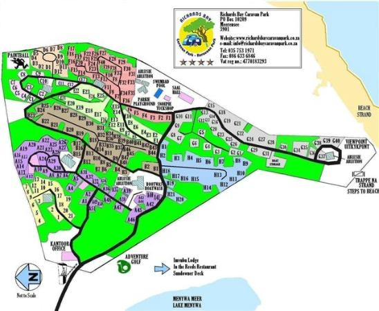 Meerensee, South Africa: Park Layout