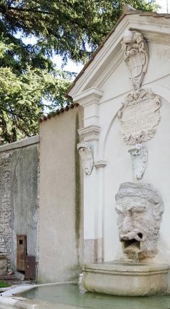 Сполето, Италия: La curiosa fuente del Mascherone