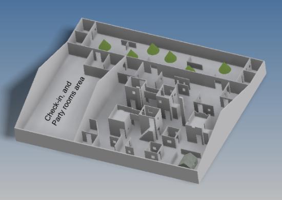Laser Tag Floor Plan