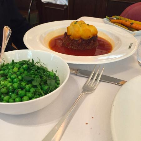 Shepherd's Pie and peas on the side