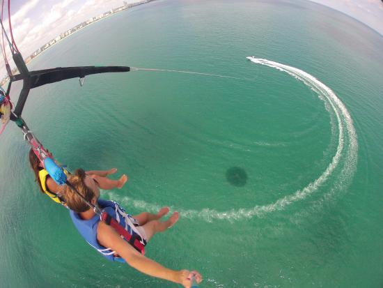 South Beach Parasail Aussicht Von Rund 100 Metern Höhe