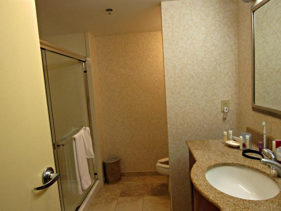Hampton Inn Warrenton: Nice large and clean bathroom - great water pressure