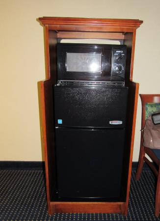 Hampton Inn Warrenton: Fridge and microwave in our King Bed room
